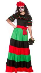 Day of The Dead Senorita Costume (HF5111)